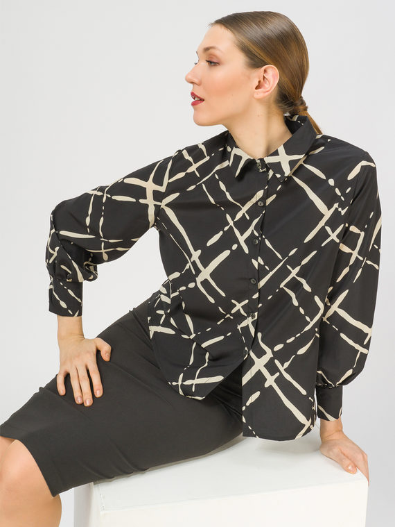 Блуза 100% полиэстер, цвет черный, арт. 18810447  - цена 1410 руб.  - магазин TOTOGROUP
