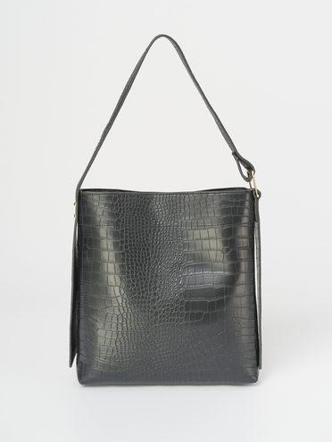 Сумка эко-кожа 100% П/А, цвет черный, арт. 18810488  - цена 1950 руб.  - магазин TOTOGROUP