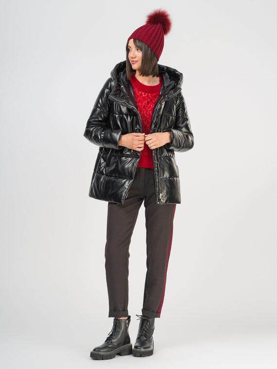 Кожаная куртка эко-кожа 100% П/А, цвет черный, арт. 18810514  - цена 5890 руб.  - магазин TOTOGROUP