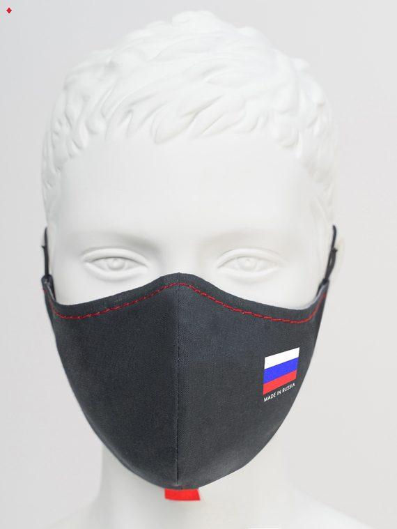 Защитная маска с флагом 1 шт. текстиль, цвет черный, арт. 18810531  - цена 150 руб.  - магазин TOTOGROUP