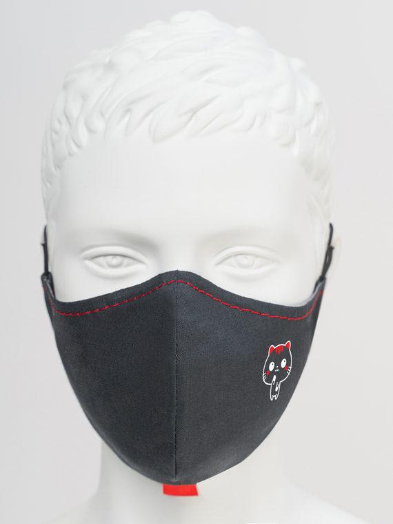 Защитная маска с котиком 1 шт. текстиль, цвет черный, арт. 18810534  - цена 150 руб.  - магазин TOTOGROUP