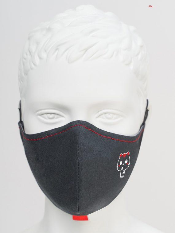 Защитная маска с котиком 5 шт. текстиль, цвет черный, арт. 18810536  - цена 540 руб.  - магазин TOTOGROUP