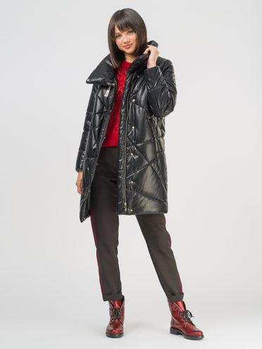 Кожаное пальто эко-кожа 100% П/А, цвет черный, арт. 18810541  - цена 8490 руб.  - магазин TOTOGROUP
