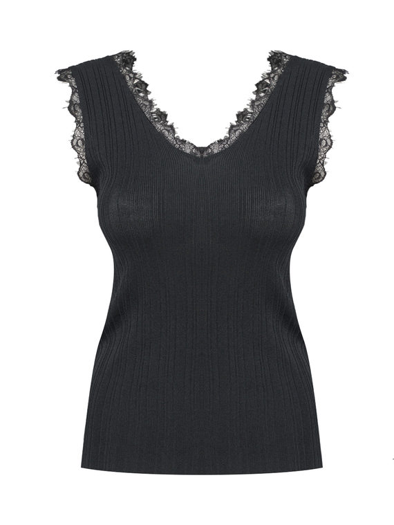Джемпер 65%вискоза,35%нейлон, цвет черный, арт. 18810550  - цена 990 руб.  - магазин TOTOGROUP