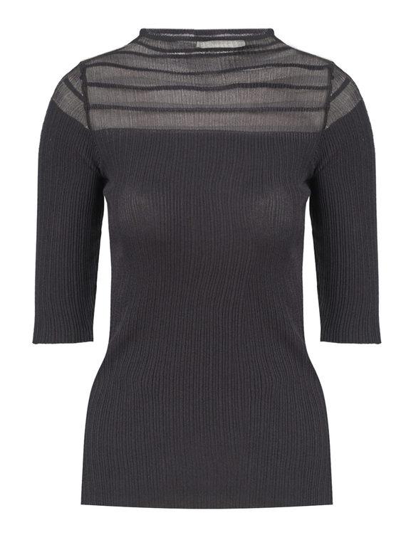 Джемпер 65%вискоза,35%нейлон, цвет черный, арт. 18810551  - цена 1260 руб.  - магазин TOTOGROUP