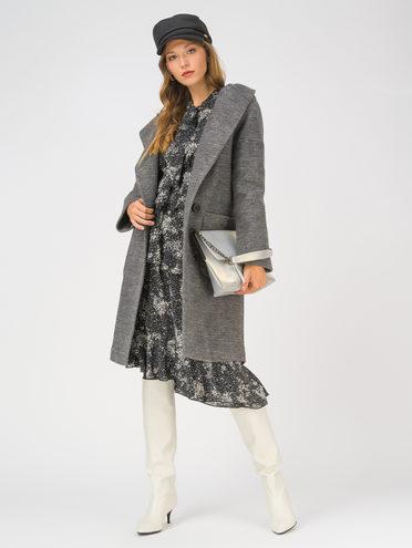 Текстильное пальто 35% шерсть, 65% полиэстер, цвет черный, арт. 18810659  - цена 6990 руб.  - магазин TOTOGROUP