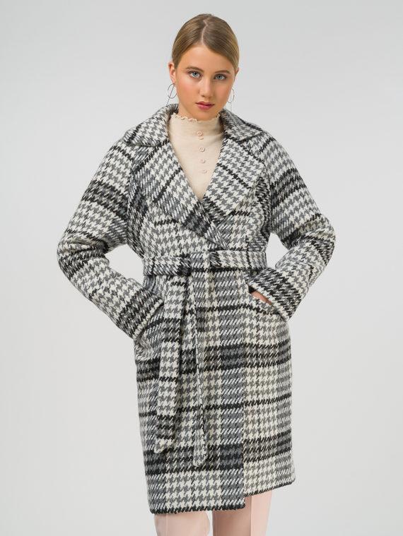 Текстильное пальто 35% шерсть, 65% полиэстер, цвет черный, арт. 18810662  - цена 8990 руб.  - магазин TOTOGROUP
