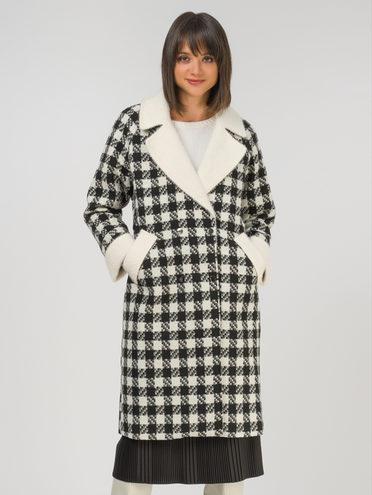 Текстильное пальто 30% шерсть, 70% п.э, цвет черный, арт. 18810722  - цена 8490 руб.  - магазин TOTOGROUP