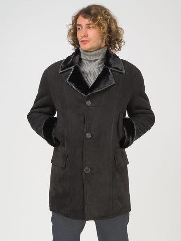 Дубленка эко-замша 100% П/А, цвет черный, арт. 18810761  - цена 8990 руб.  - магазин TOTOGROUP