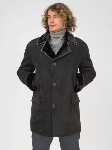 Дубленка эко-замша 100% П/А, цвет черный, арт. 18810761  - цена 11990 руб.  - магазин TOTOGROUP