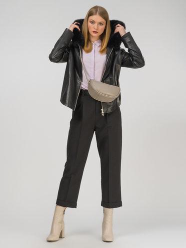 Кожаная куртка кожа, цвет черный, арт. 18810765  - цена 25590 руб.  - магазин TOTOGROUP