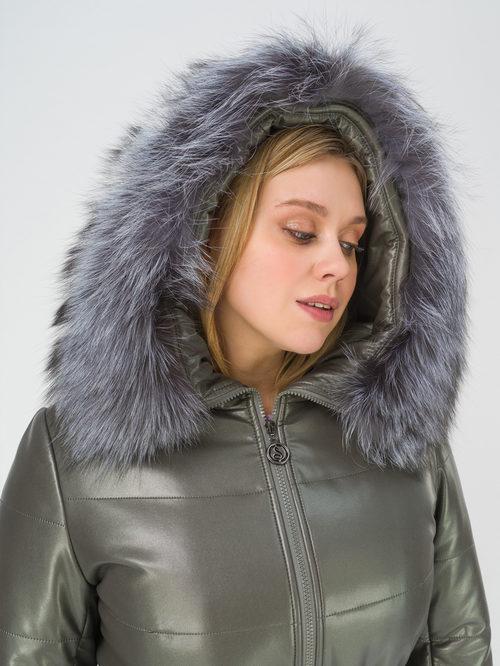 Кожаное пальто артикул 18810766/50 - фото 3