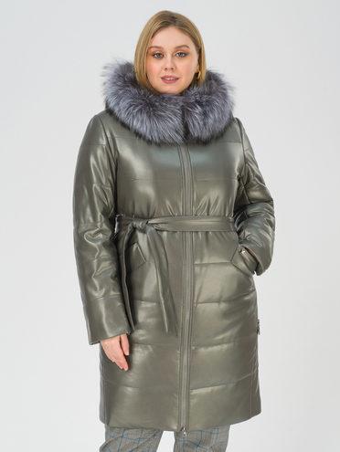 Кожаное пальто эко-кожа 100% П/А, цвет черный, арт. 18810766  - цена 16990 руб.  - магазин TOTOGROUP