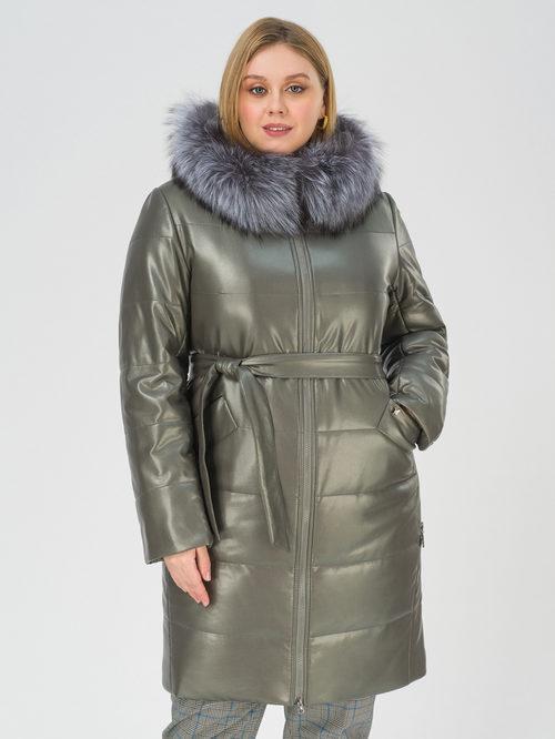 Кожаное пальто артикул 18810766/50