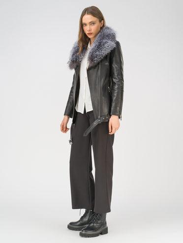 Кожаная куртка кожа, цвет черный, арт. 18810770  - цена 28490 руб.  - магазин TOTOGROUP