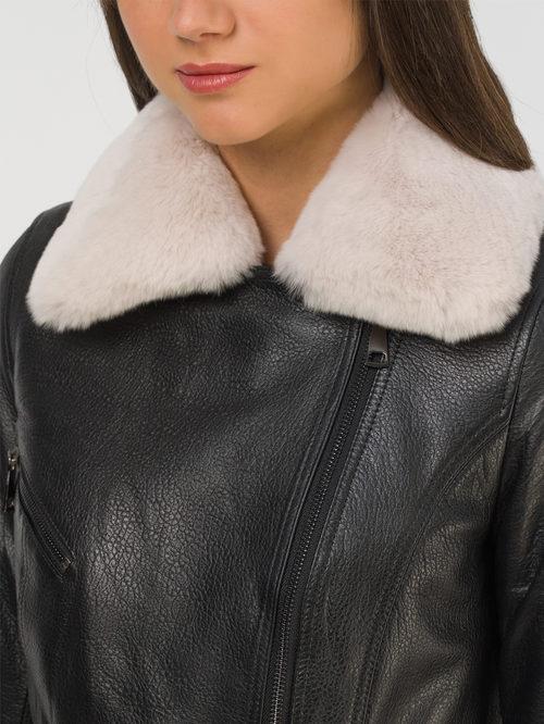 Кожаная куртка артикул 18810771/44 - фото 3