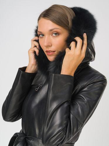 Кожаное пальто кожа, цвет черный, арт. 18810772  - цена 18990 руб.  - магазин TOTOGROUP
