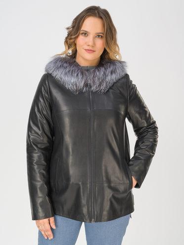 Кожаная куртка кожа, цвет черный, арт. 18810774  - цена 26990 руб.  - магазин TOTOGROUP