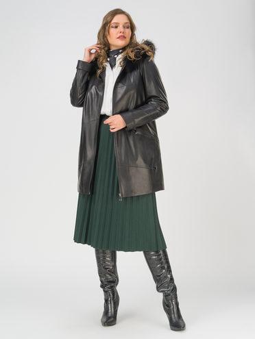Кожаная куртка кожа, цвет черный, арт. 18810776  - цена 25590 руб.  - магазин TOTOGROUP