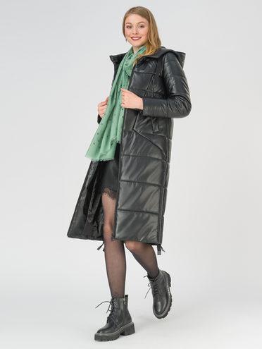 Кожаное пальто эко-кожа 100% П/А, цвет черный, арт. 18810779  - цена 11290 руб.  - магазин TOTOGROUP