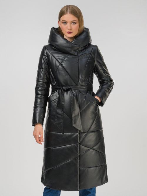 Кожаное пальто артикул 18810780/44 - фото 2
