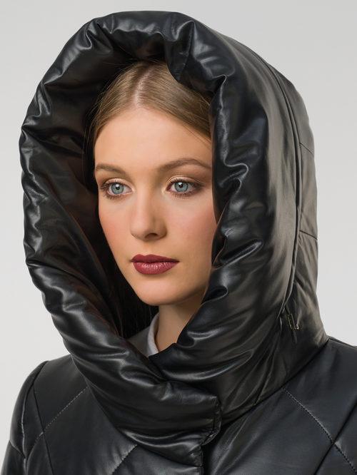 Кожаное пальто артикул 18810780/44 - фото 3