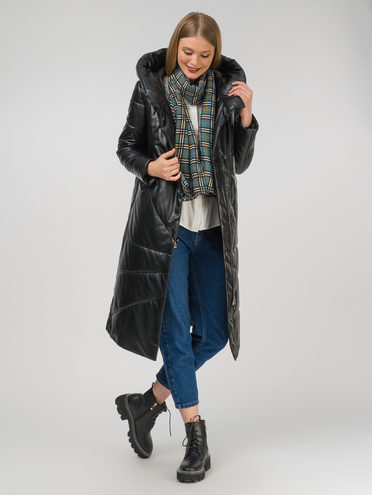 Кожаное пальто эко-кожа 100% П/А, цвет черный, арт. 18810780  - цена 12690 руб.  - магазин TOTOGROUP
