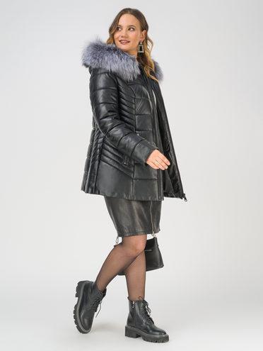 Кожаная куртка эко-кожа 100% П/А, цвет черный, арт. 18810782  - цена 15990 руб.  - магазин TOTOGROUP