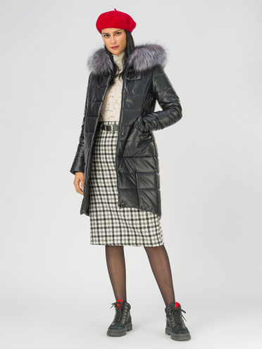 Кожаное пальто эко-кожа 100% П/А, цвет черный, арт. 18810787  - цена 15990 руб.  - магазин TOTOGROUP