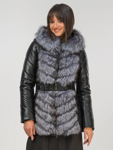 Кожаная куртка эко-кожа 100% П/А, цвет черный, арт. 18810792  - цена 22690 руб.  - магазин TOTOGROUP