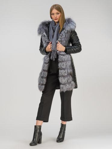 Кожаное пальто эко-кожа 100% П/А, цвет черный, арт. 18810793  - цена 17990 руб.  - магазин TOTOGROUP