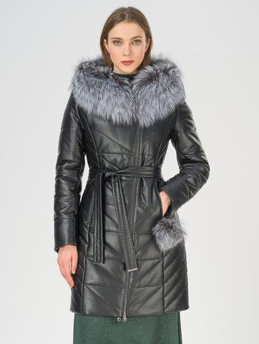 Кожаное пальто эко-кожа 100% П/А, цвет черный, арт. 18810794  - цена 16990 руб.  - магазин TOTOGROUP