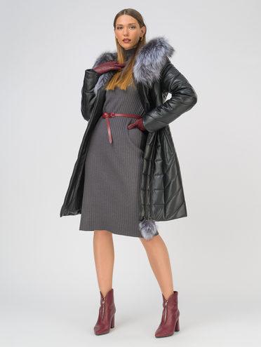 Кожаное пальто эко-кожа 100% П/А, цвет черный, арт. 18810795  - цена 9990 руб.  - магазин TOTOGROUP