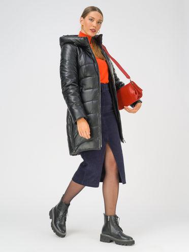 Кожаное пальто эко-кожа 100% П/А, цвет черный, арт. 18810796  - цена 10590 руб.  - магазин TOTOGROUP