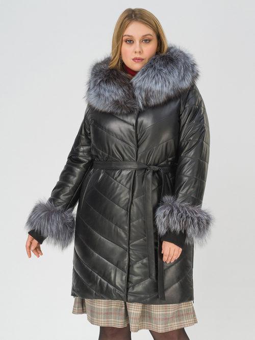 Кожаное пальто артикул 18810797/50 - фото 3
