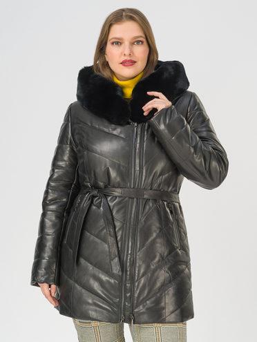 Кожаная куртка кожа, цвет черный, арт. 18810798  - цена 23990 руб.  - магазин TOTOGROUP