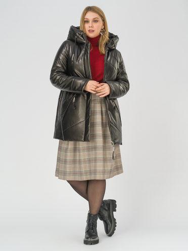 Кожаная куртка эко-кожа 100% П/А, цвет черный, арт. 18810802  - цена 8990 руб.  - магазин TOTOGROUP