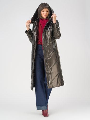 Кожаное пальто эко-кожа 100% П/А, цвет черный, арт. 18810804  - цена 12690 руб.  - магазин TOTOGROUP