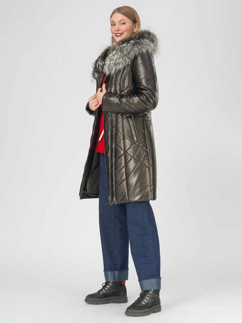 Кожаное пальто артикул 18810808/42