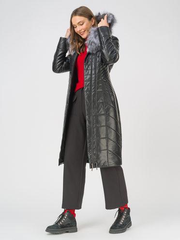 Кожаное пальто эко-кожа 100% П/А, цвет черный, арт. 18810809  - цена 16990 руб.  - магазин TOTOGROUP