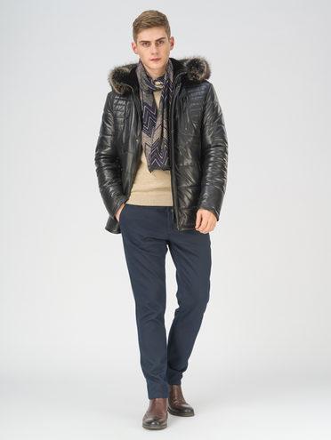 Кожаная куртка кожа, цвет черный, арт. 18810810  - цена 29990 руб.  - магазин TOTOGROUP