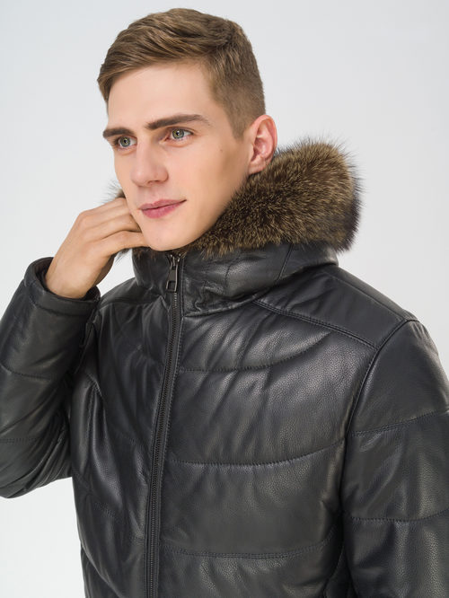 Кожаная куртка артикул 18810811/52 - фото 3