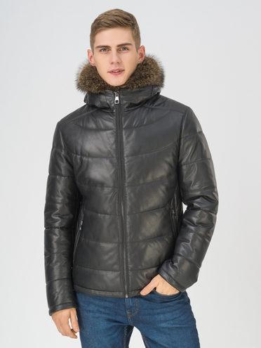 Кожаная куртка кожа баран, цвет черный, арт. 18810811  - цена 31990 руб.  - магазин TOTOGROUP