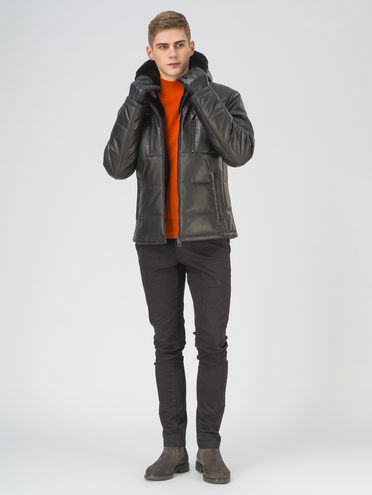 Кожаная куртка кожа баран, цвет черный, арт. 18810813  - цена 29990 руб.  - магазин TOTOGROUP