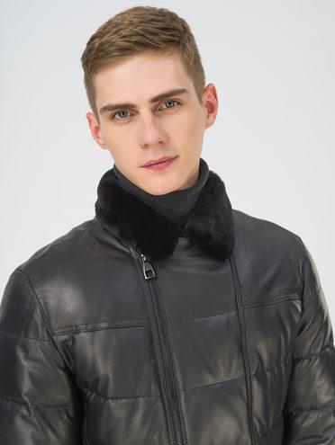 Кожаная куртка кожа баран, цвет черный, арт. 18810814  - цена 29990 руб.  - магазин TOTOGROUP