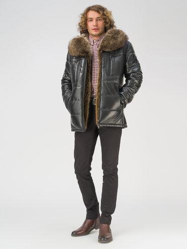 Кожаная куртка кожа, цвет черный, арт. 18810816  - цена 42490 руб.  - магазин TOTOGROUP