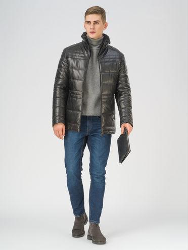 Кожаная куртка кожа, цвет черный, арт. 18810817  - цена 31990 руб.  - магазин TOTOGROUP