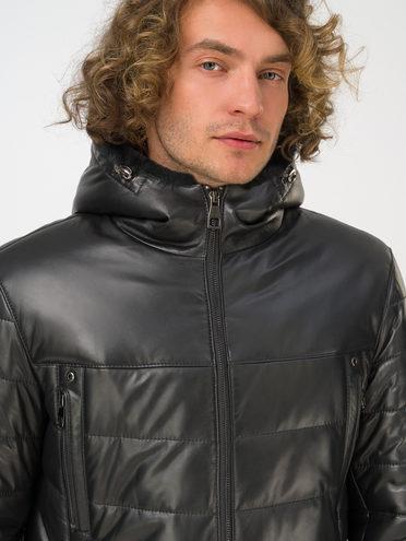 Кожаная куртка кожа, цвет черный, арт. 18810818  - цена 29990 руб.  - магазин TOTOGROUP
