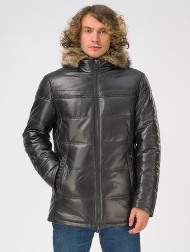 Кожаная куртка кожа, цвет черный, арт. 18810820  - цена 39990 руб.  - магазин TOTOGROUP