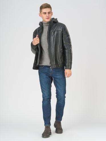 Кожаная куртка эко-кожа 100% П/А, цвет черный, арт. 18810849  - цена 4990 руб.  - магазин TOTOGROUP